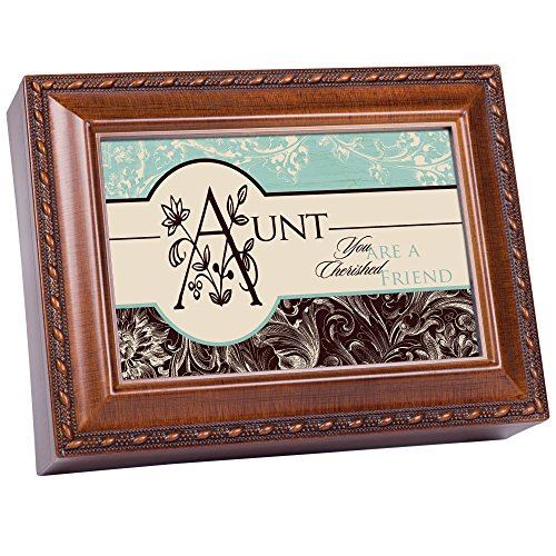Aunt Cottage Garden Woodgrain Traditional Music Box Plays...