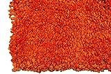 Soft Cozy Color Solid Shag Area Rug Contemporary Living Bedroom Soft Shag Area Rug, Orange, 7″ L x 5″ W (Popcorn Orange)