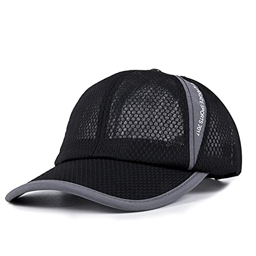 39bfe8905f9 Breathable Net Cap Sun Hat Quick-Dry Ventilation Baseball Cap for Men and Women  Outdoor