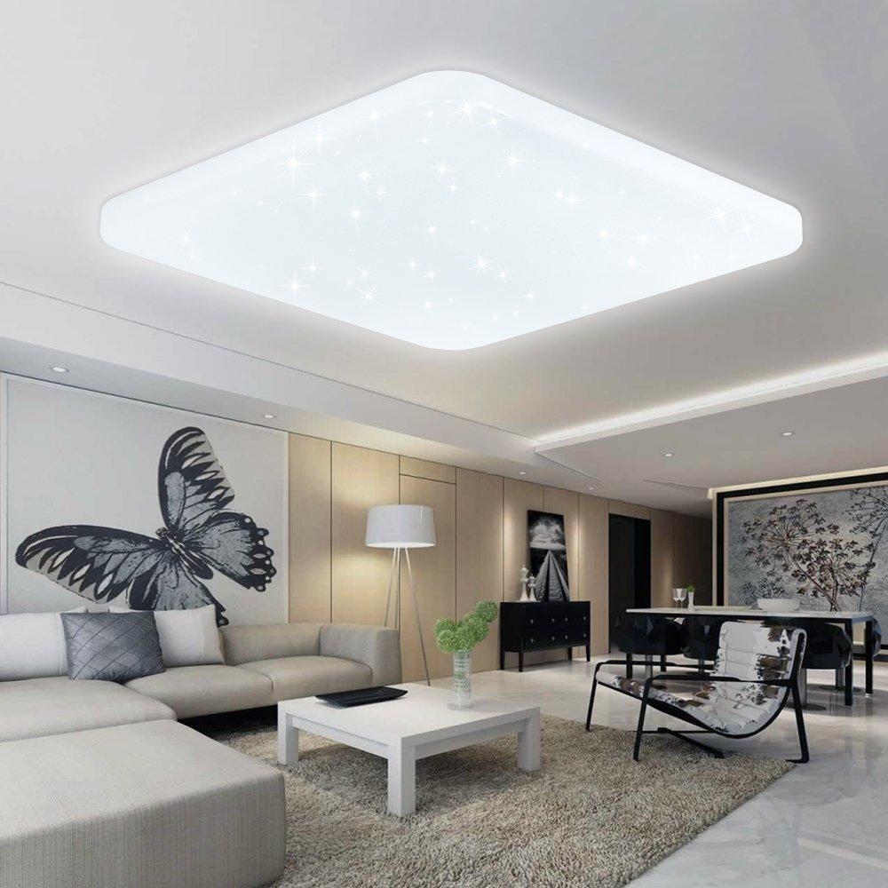 VINGO® 60W LED Deckenleuchte Kaltweiß Deckenlampe Esszimmer ...