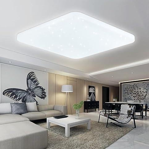 VINGO® 60W LED Deckenleuchte Kaltweiß Deckenlampe Esszimmer  Deckenbeleuchtung Schlafzimmer Lampe Modern Badlampe Energiespar Markantes  Design