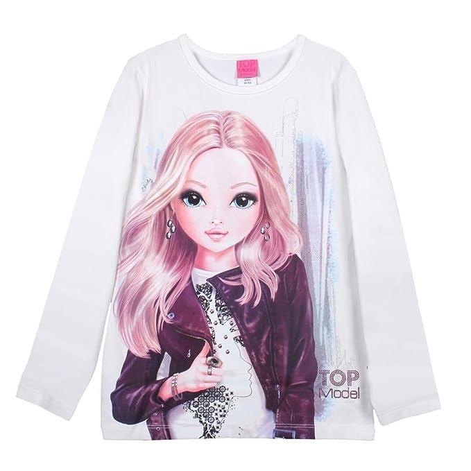 0885038ef Top Model - Camiseta con Cuello Redondo para niña