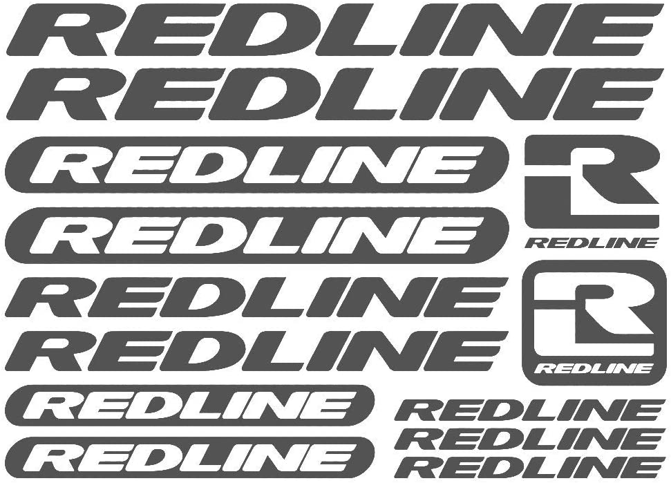 Amazon Com 1 Set Redline Vinyl Sheet Bike Frame Cycling Bicycle Decal Motor Cartoon Stickers Car Styling Decorative Car Body Stickers Gray Style 1 Automotive
