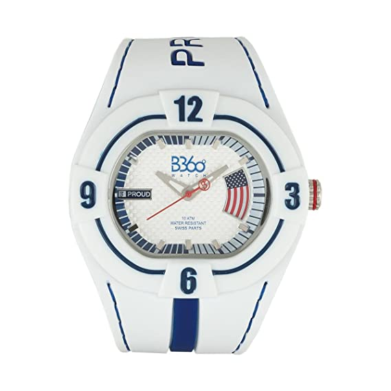 B360 watch Unisex-reloj grande, 10 bares analógico de cuarzo silicona B PROUD NEW