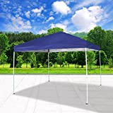 Cloud Mountain Pop Up Canopy Tent 118'' x 118'' UV Coated Outdoor Garden Instant Canopies Tent Easy Set Up With Carry Bag, Blue