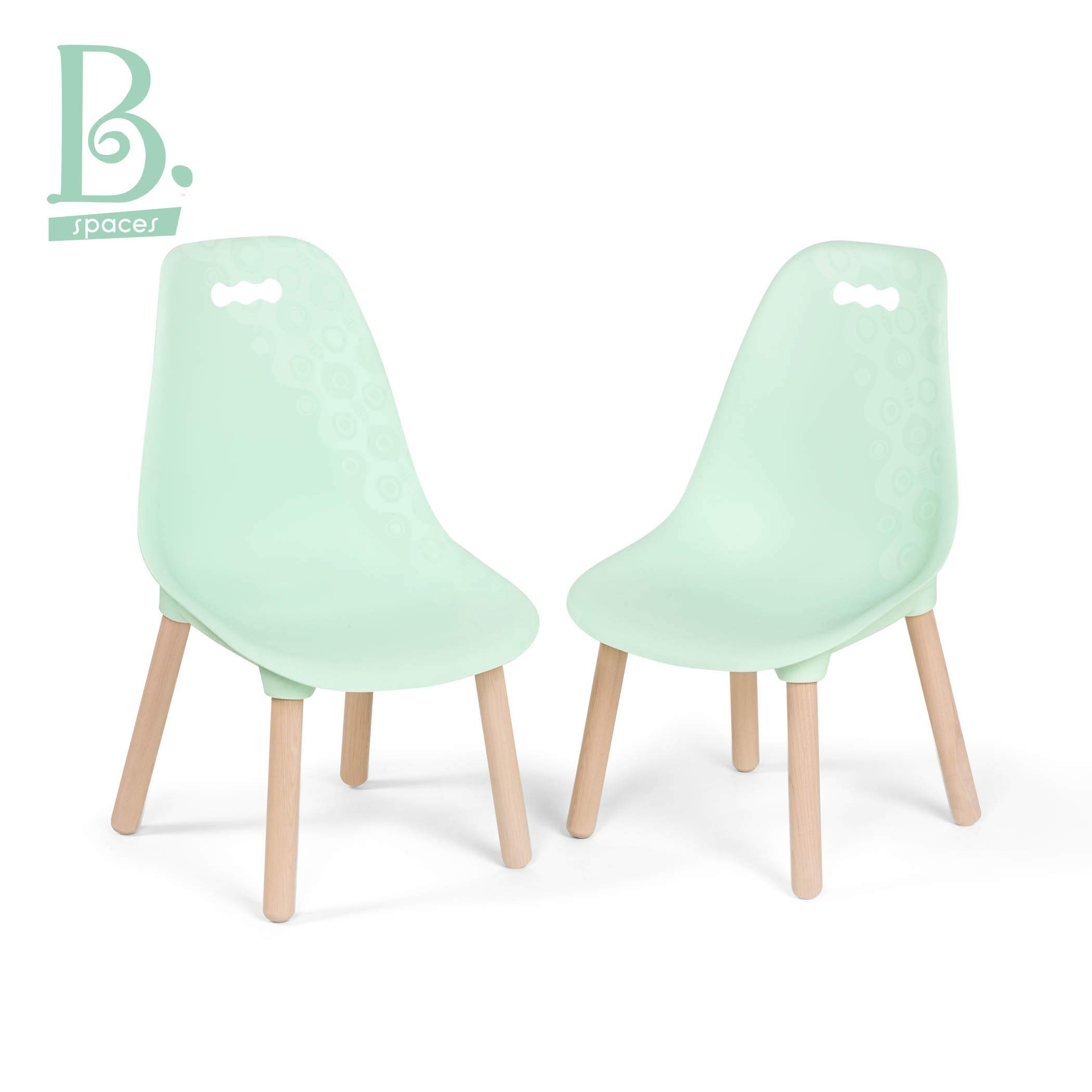 B. spaces by Battat - Kid-Century Modern: Trendy Toddler Chair Set of Two Kids Chairs - Kids Furniture Set for Toddlers and Kids - Mint by B. spaces by Battat
