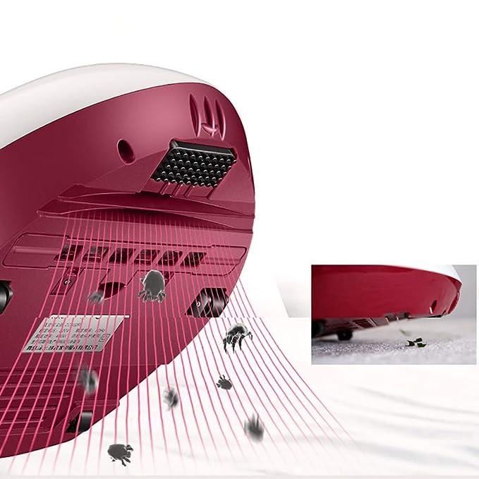 OR&DK Aspiradora Ultravioleta Anti Polvo ácaros, Mata hasta el 99.9% de Las bacterias, Vibración Alta frecuencia y filtración hepa, Filtro Lavable-Blanco: ...