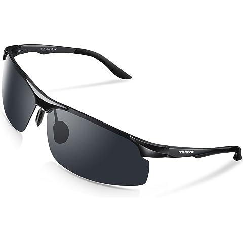 ba723f820f TOREGE Men s Sports Style Polarized Sunglasses Al-Mg Metal Frame Glasses  M291