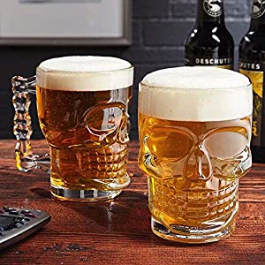 Skull Beer MUg Glass