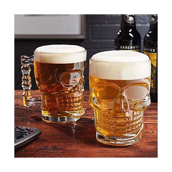 Skull Beer MUg Glass