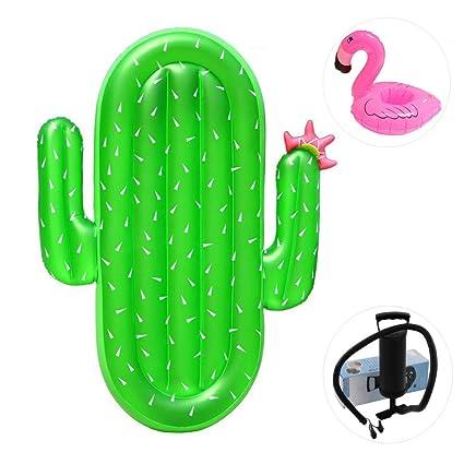 KEYUAN Cactus Hinchable Gigante, Inflatable Flotadores Colchón de ...