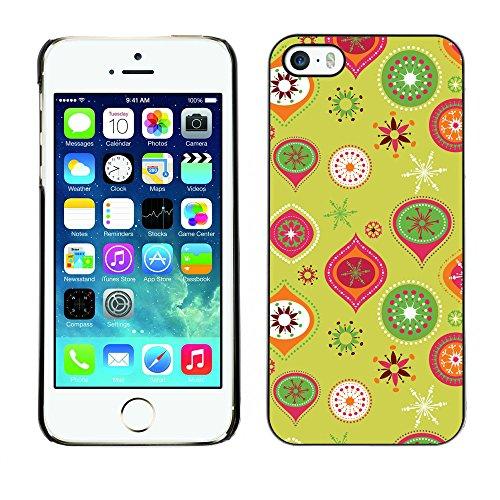 Hülle Case Schutzhülle Cover Premium Case // V00002715 Weihnachtsmuster // Apple iPhone 5 5S 5G
