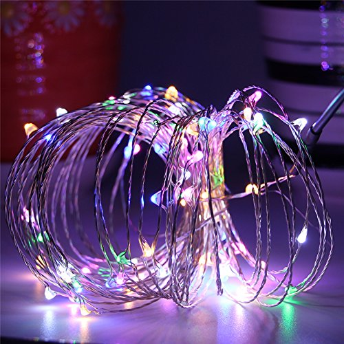 BEILAI LED String Lights 33ft 100LEDs Gifts Multicolor Waterproof Adjustable Fairy Lights Indoor (Light Upholstery)