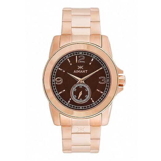 266b2f0feb9a Aimant la Mujer Madison con Oro Rosa de Oro Rosa Reloj de Pulsera de Acero  Inoxidable lma-130srg-5rg  Amazon.es  Relojes