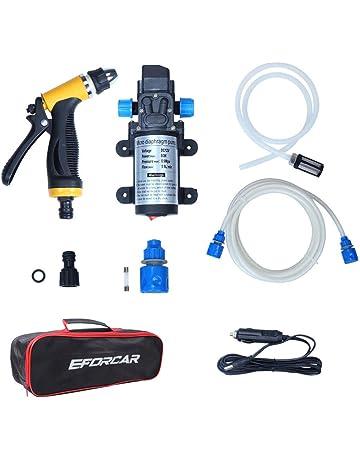Lavadora eléctrica de coches, EFORCAR bomba de lavado de coches de alta presión, 12V