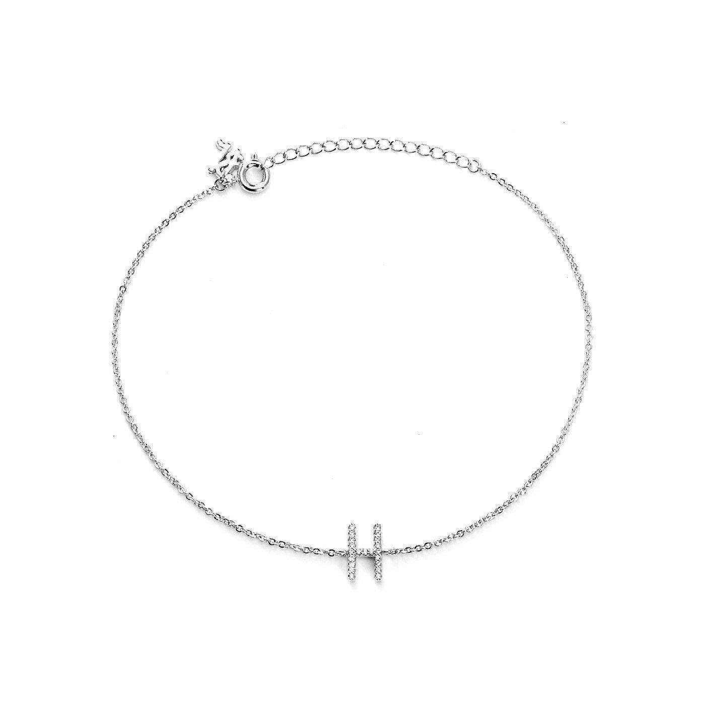 Blinglane Your Initial H Fashion Anklet Jewelry Women