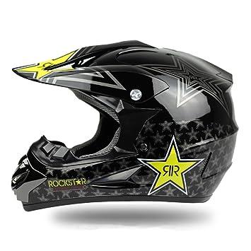 Duebel Rockstar moto casco para BMX/Downhill/Esquí/Dirt Bike/Cross,