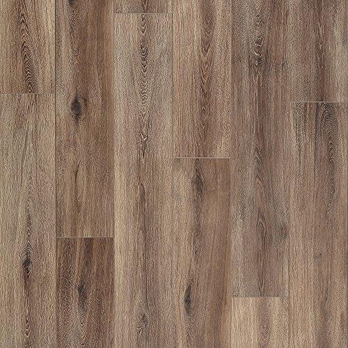 Mannington Hardware 28101 (S) Restoration Collection Fairhaven Laminate Flooring, 12mm, Brushed Coffee