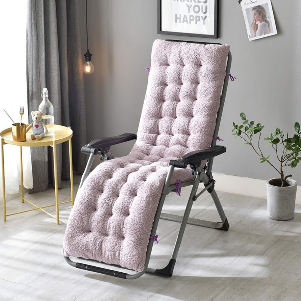 ZGYQGOO Lounge Chair Kissen, Patio Chaise Lounge Kissen, einfarbig verdickt rutschfest für Garten Sonnenliege Stuhl Kissen für Gartenmöbel (nur Kissen) -b 160x50x12cm (63x20x5inch)