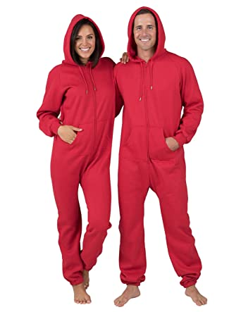 Amazon.com  Joggies - Red Adult Footless Hoodie Onesie - Extra Large ... 20f650fea