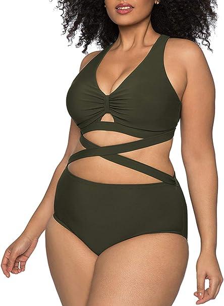 Amazon.com: Kisscynest Traje de baño para mujer, talla ...