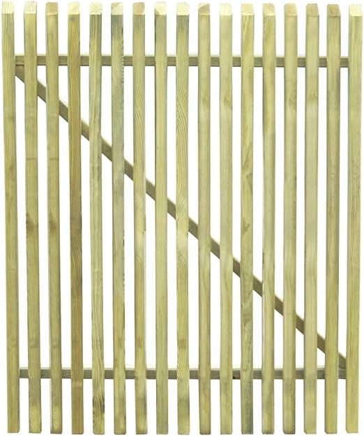 ghuanton Puerta de Valla Postes Madera de Pino impregnada FSC 100x125 cmBricolaje Vallas de jardín Puertas de jardín: Amazon.es: Hogar
