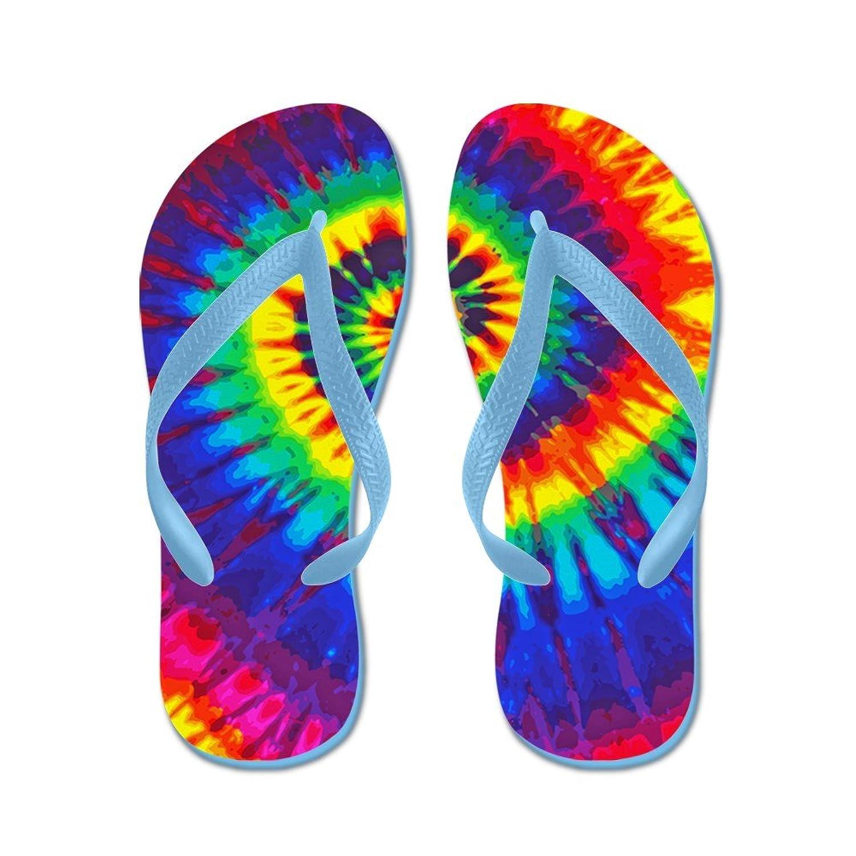 CafePress - Bright Tie-Dye - Flip Flops, Funny Thong Sandals, Beach Sandals