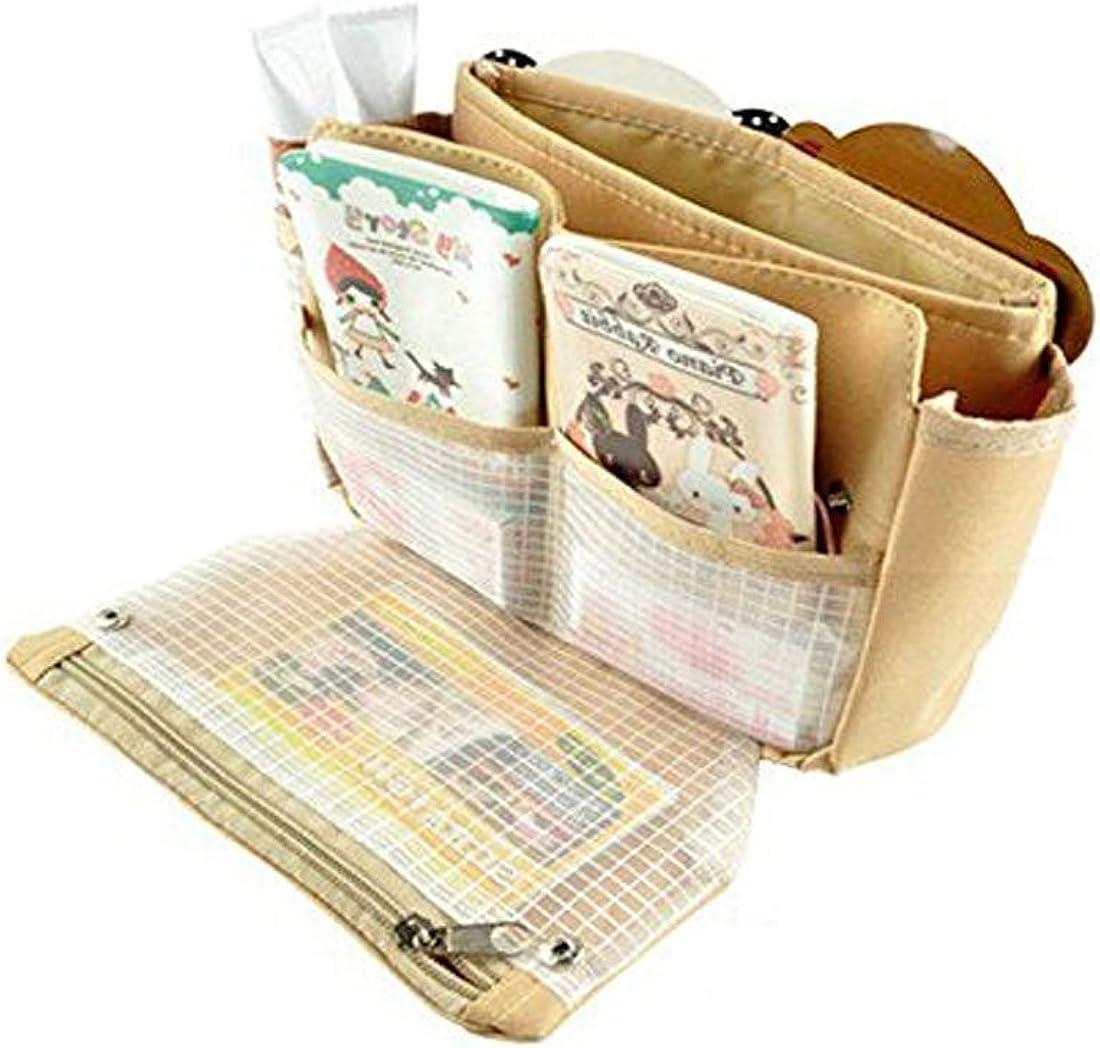Simply Gorgeous Bolso de las se/ñoras insert organizador monedero liner colada de la bolsa del organizador del recorrido