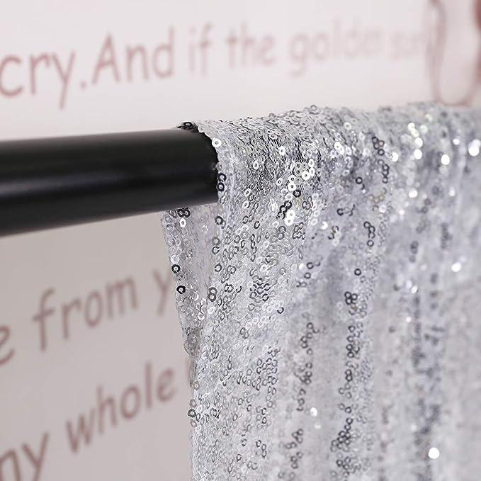 Trlyc 121 9 X 274 3 Cm Shimmer Pailletten Stoff Fotografie Hintergrund Für Hochzeit Auf Verkauf Farben Sind Erhältlich 48 108 Sequin Backdrop Silber Küche Haushalt
