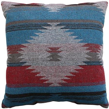 Southwest Aztec Indian Turquoise Decorative Throw Pillow (18 x 18)
