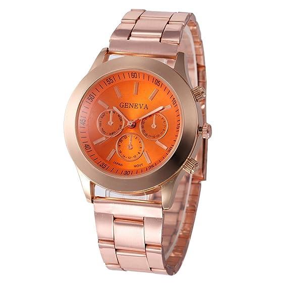 Elección sencilla relojes Quartz (Naranja)