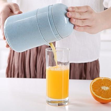 W&lx Exprimidor de jugo de naranja, Taza mini juicer manual Máquina de jugo de fruta
