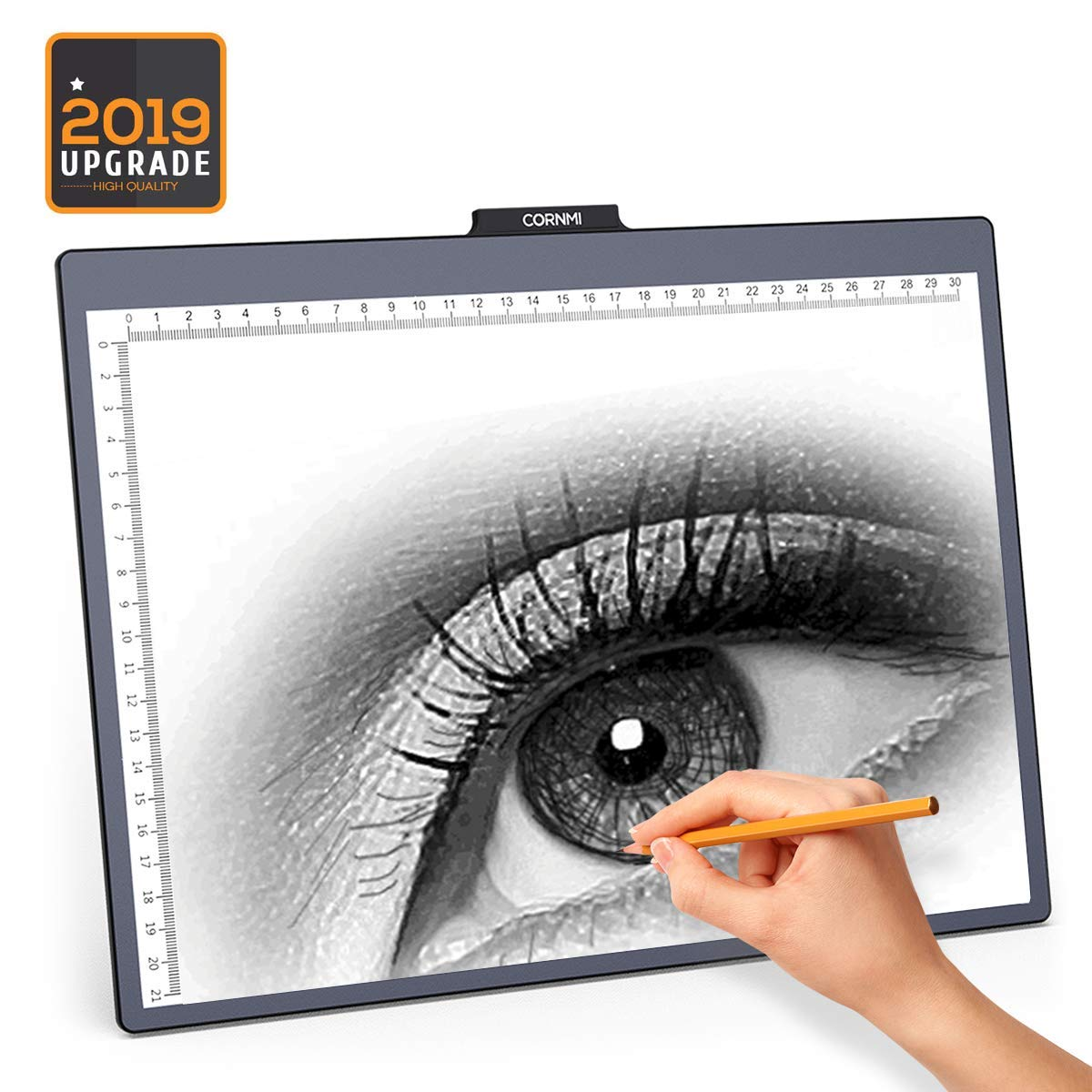 CORNMI A4 LED Light Box Tracer 10-Level Dimmable Brightness with 6500K White LED Eye-Protected USB Power Light Table for Kids Artists,X-ray,Viewing,Drawing,Animation,Sketching,Upgrade Design