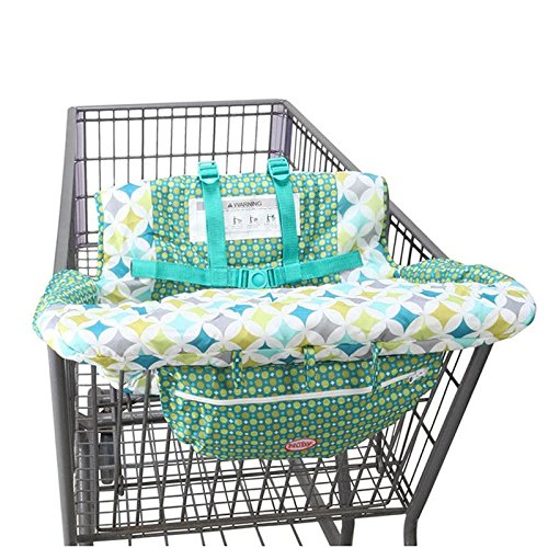 2 in 1 Shopping Cart and High Chair Cover for Baby and Toddlers - Folds into Pouch for Easy Carrying by HM Fulfillment (Image #8)