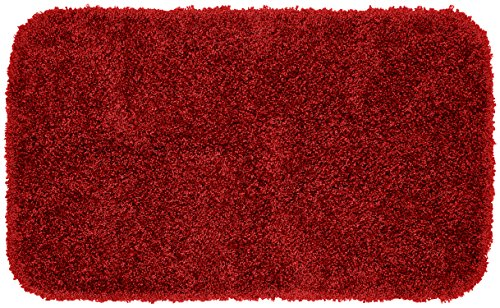 (Garland Rug Serendipity Shaggy Washable Nylon Rug, 24-Inch by 40-Inch, Chili Pepper Red)