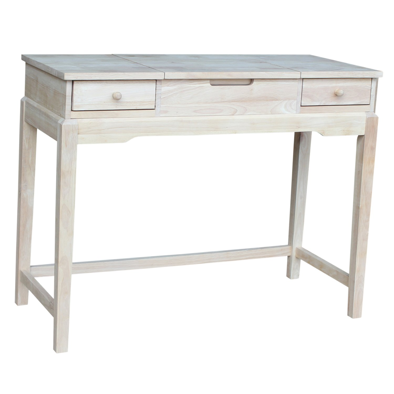 Amazon international concepts unfinished vanity table amazon international concepts unfinished vanity table kitchen dining geotapseo Images