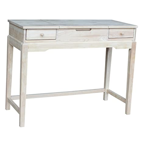 Amazoncom International Concepts Vanity Table Unfinished Kitchen