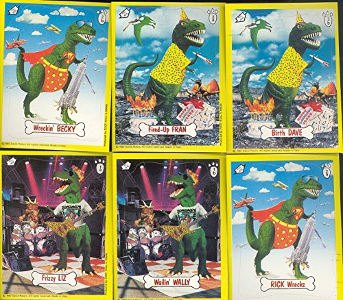 WACKO-SAURS 1987 ZOOT COMPLETE BASE CARD SET OF 48 DINOSAUR SPOOF