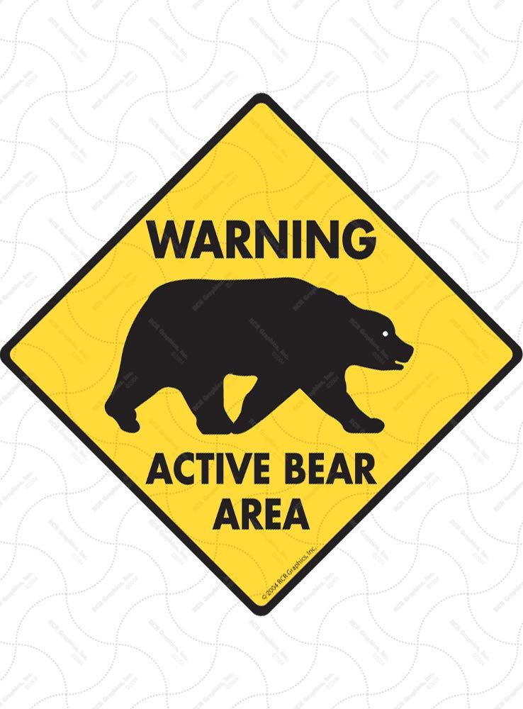 "9/"" x 12/"" Caution Buffalo on Road Aluminum Animal Sign"