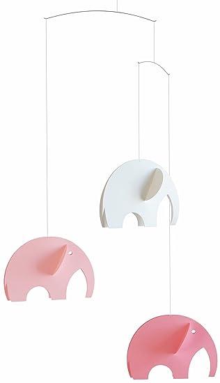 Black//White Nursery Decor Flensted Elephant Party Modern Hanging Baby Mobile