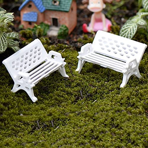 Mini Garden Park Seat Bench Miniature Fairy Dollhouse Ornament Craft DIY Decor