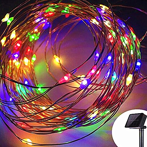 Sogrand Solar String Lights Outdoor Waterproof Multicolor 200 LED Copper Wire Decorative Fairy Light Garden Decorations Home Decor Deal of The Day Prime Today Landscape Lamp for Patio Outside Party