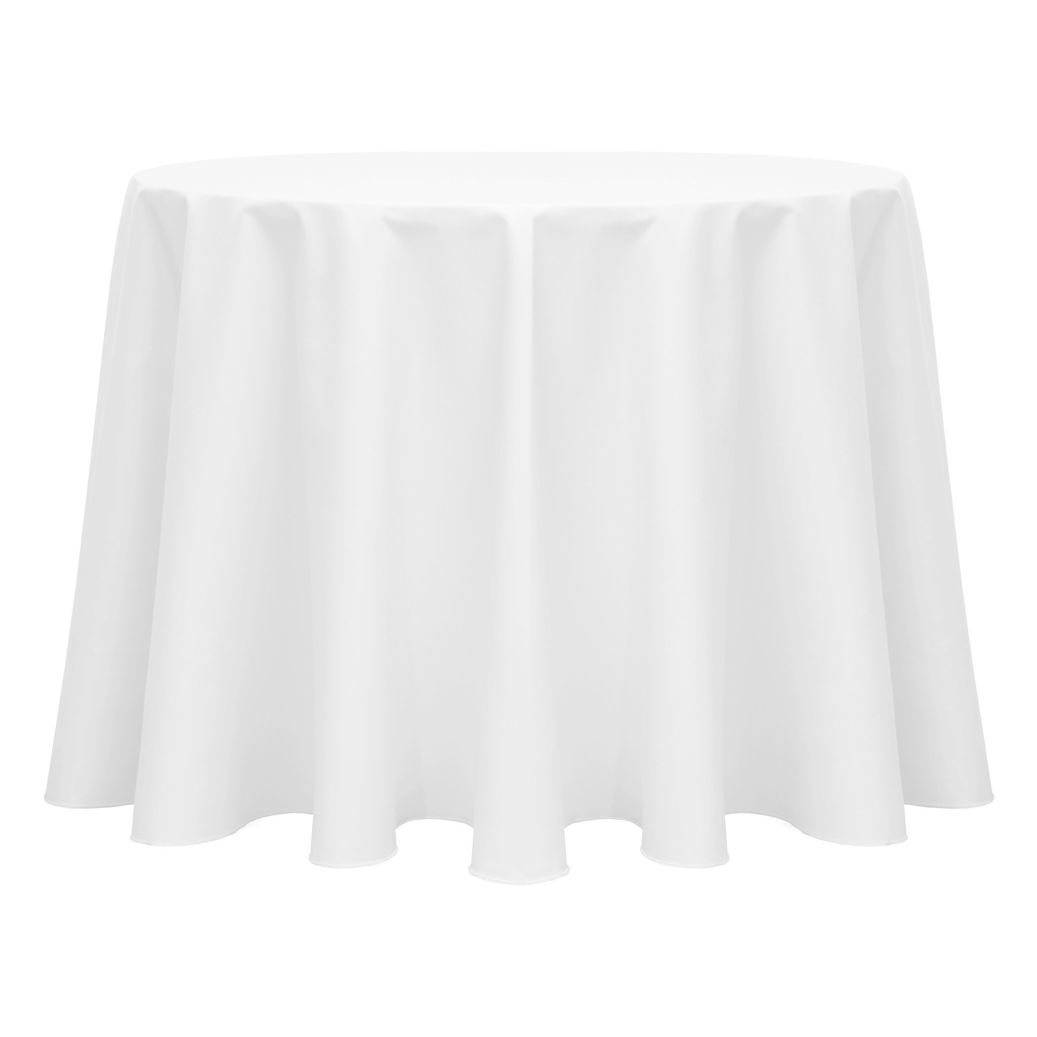 Ultimate Textile (5 Pack) Poly-cotton Twill 120-Inch Round Tablecloth - for Restaurant and Catering, Hotel or Home Dining use, White