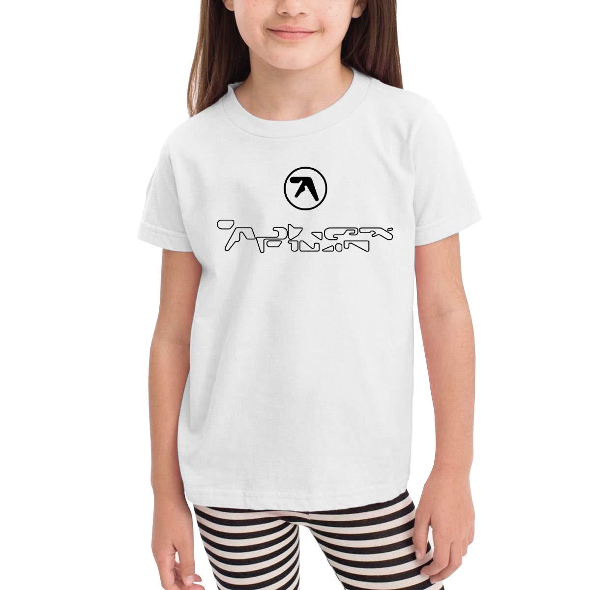 Aphex Twin Logo Unisex Youths Short Sleeve T-Shirt Kids T-Shirt Tops Gray