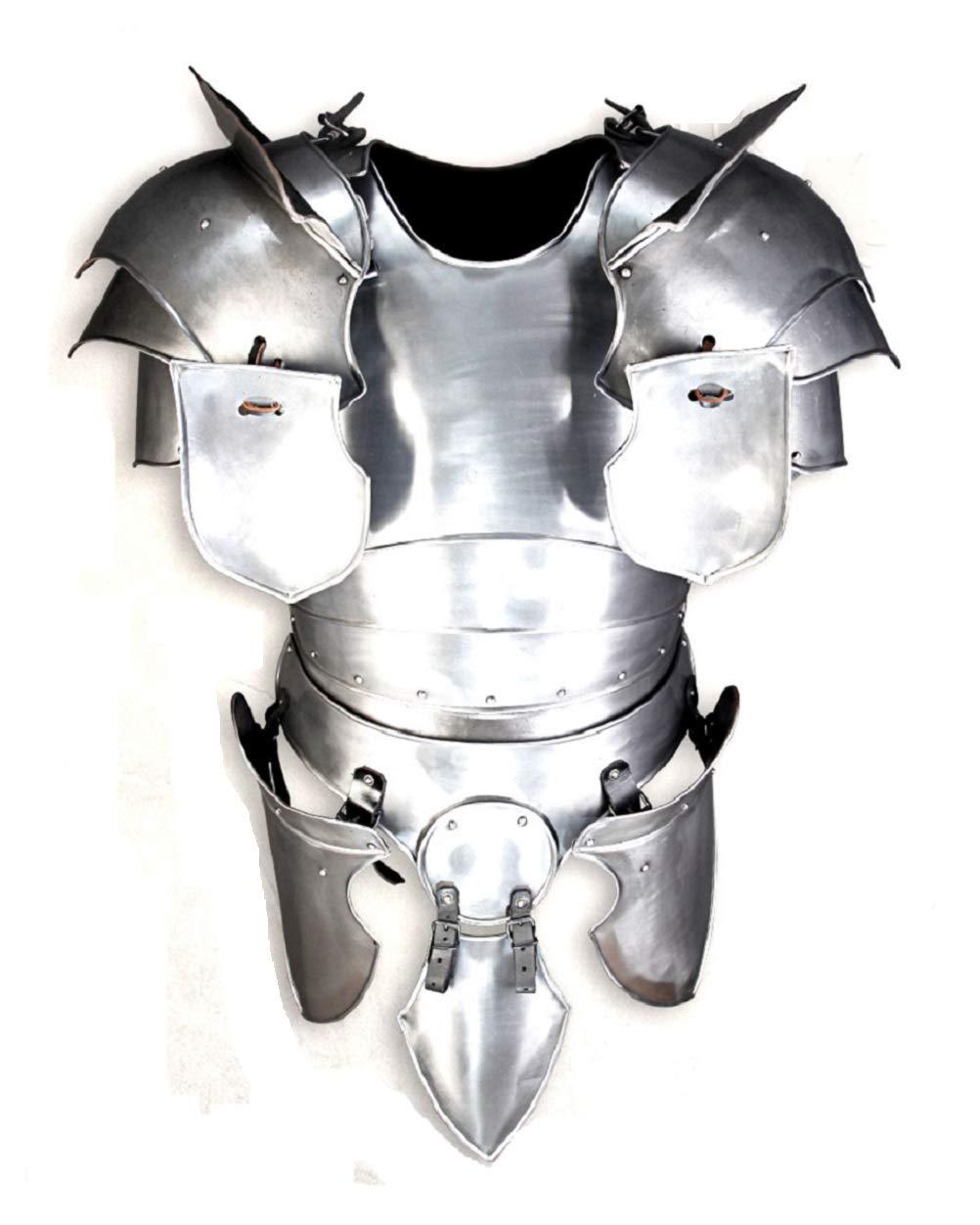 Medieval Galahad Paladin Body Armour Set LARP Costume Silver