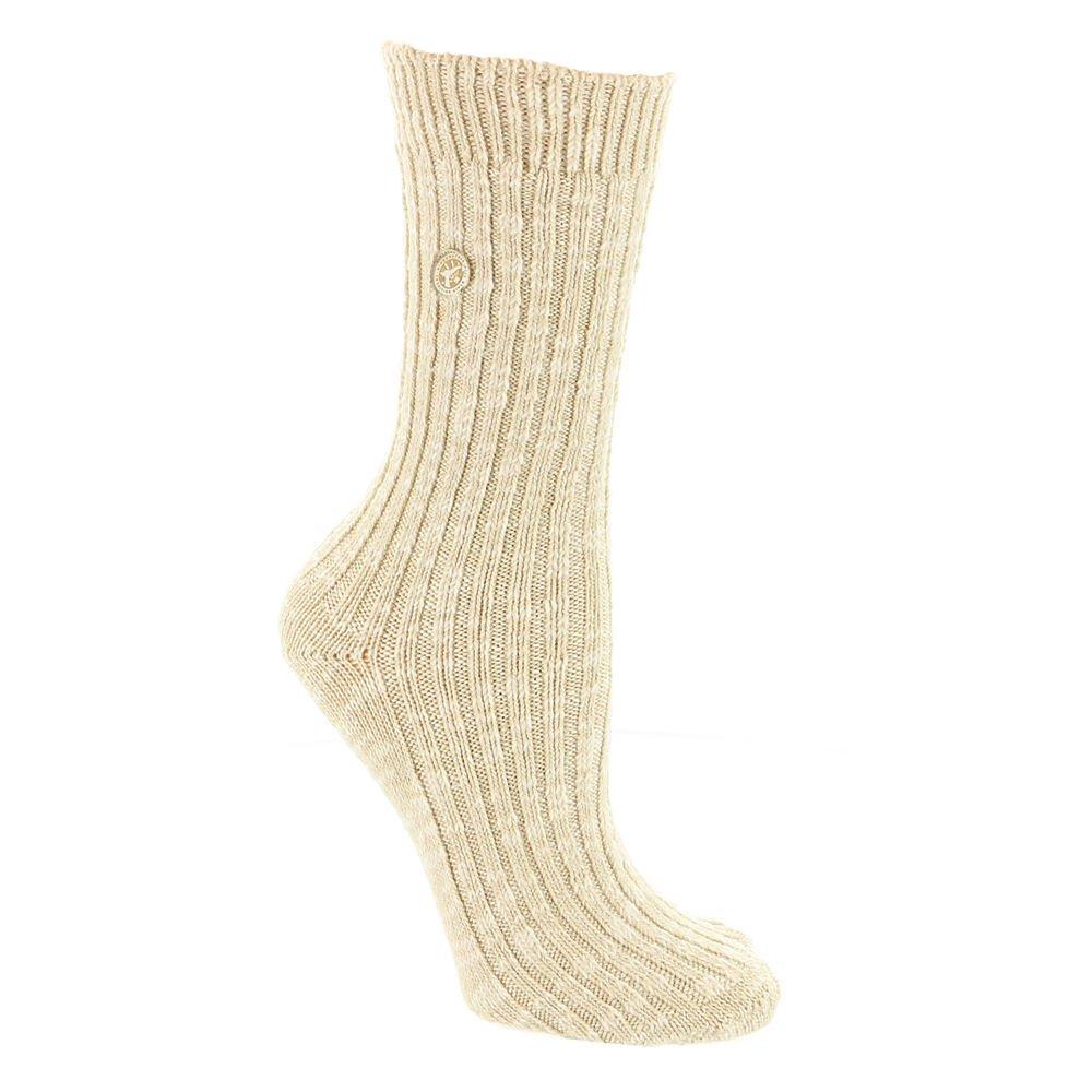 Birkenstock Cotton Slub 2 Beige/White M Unisex Socks