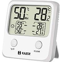 Habor HBHM221AW-ESVD1 Mini higrotermómetro Digital, Humedad de Temperatura