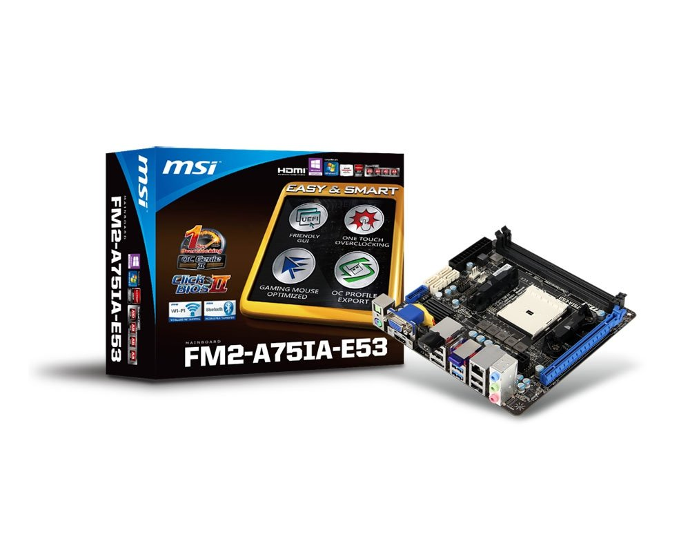Msi Computer Corp Ddr3 1066 Fm2 Motherboard A75ia Amd Prosesor A4 5300 Trinity Socket E53 Computers Accessories