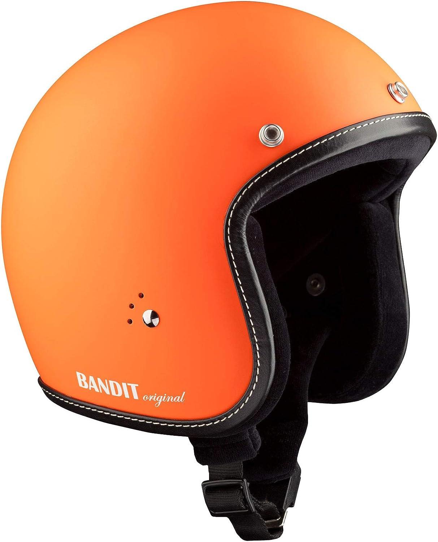 M 57//58 Bandit Jethelm JET PREMIUM orange matt ohne ECE inkl Schirm Vespa Roller Retro