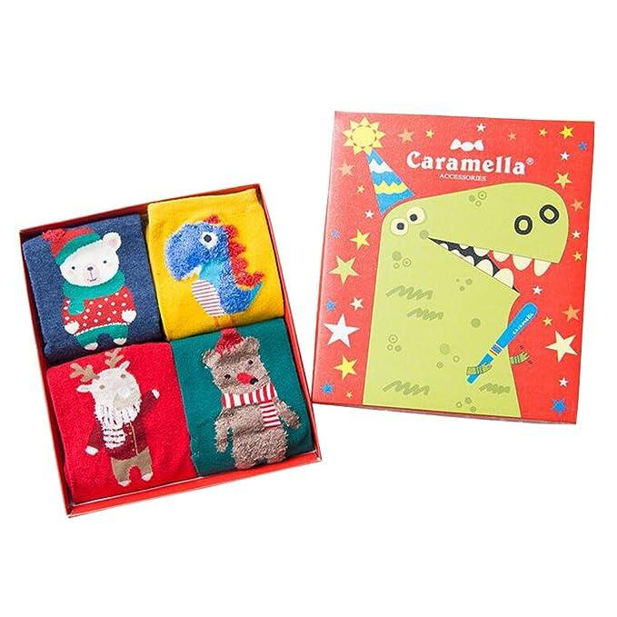 BOZEVON Calcetines Niños De Calcetines de Navidad Medias de Dibujos Animados: Amazon.es: Ropa y accesorios